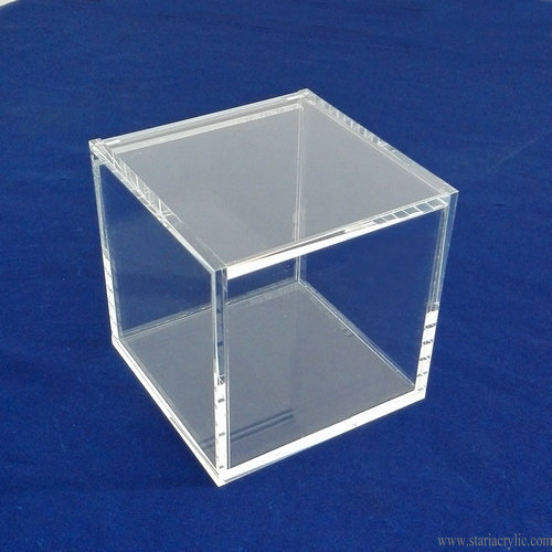 Baseball Display Square Case Transparent Show Box Bracket Base Showcase